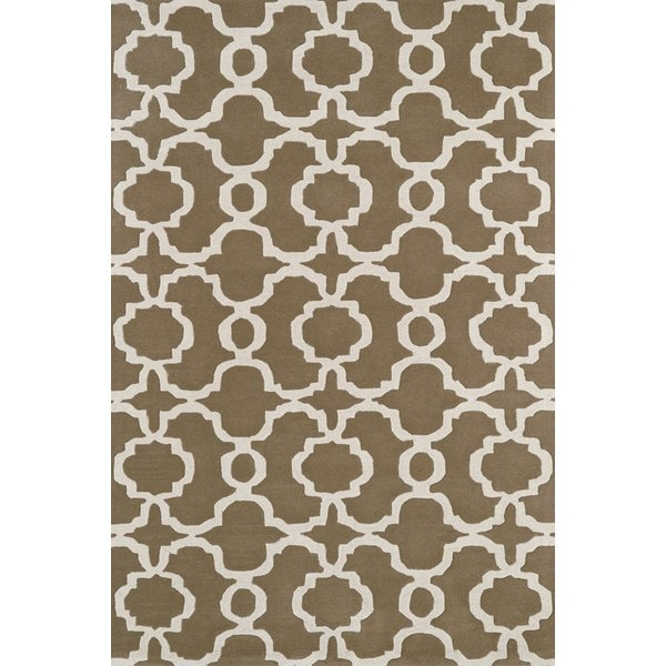 Light Brown, Ivory (82) Contemporary / Modern Area Rug