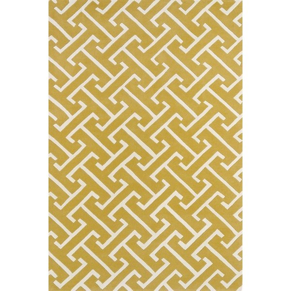 Yellow, Ivory (28) Contemporary / Modern Area Rug