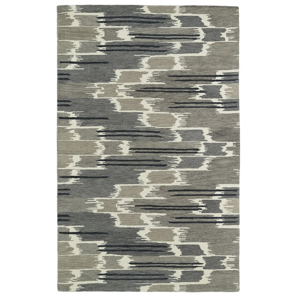 Grey, Charcoal, Ivory (75) Contemporary / Modern Area-Rugs