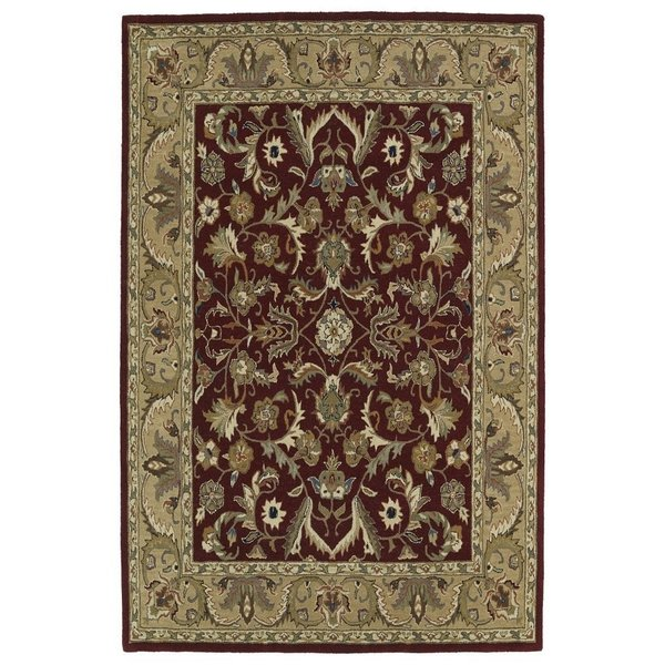 Red, Olive Green Brown (25) Traditional / Oriental Area Rug