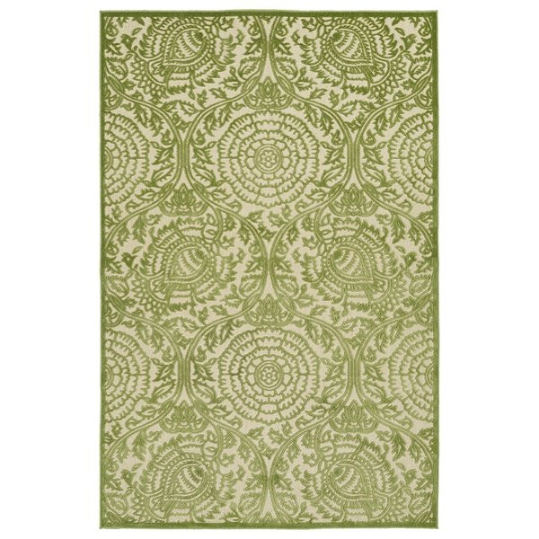 Green, Beige (50) Contemporary / Modern Area Rug