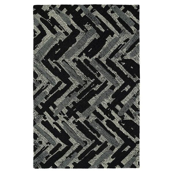 Charcoal, Ivory, Slate (02) Contemporary / Modern Area Rug