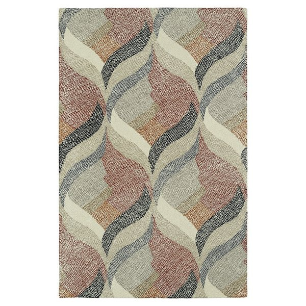Ivory, Brick, Charcoal (01) Contemporary / Modern Area Rug