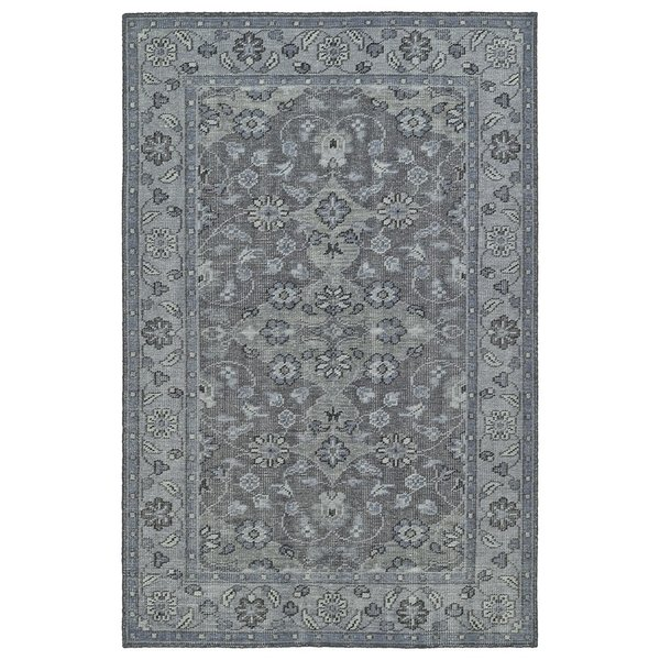 Grey, Silver, Steel (75) Traditional / Oriental Area Rug
