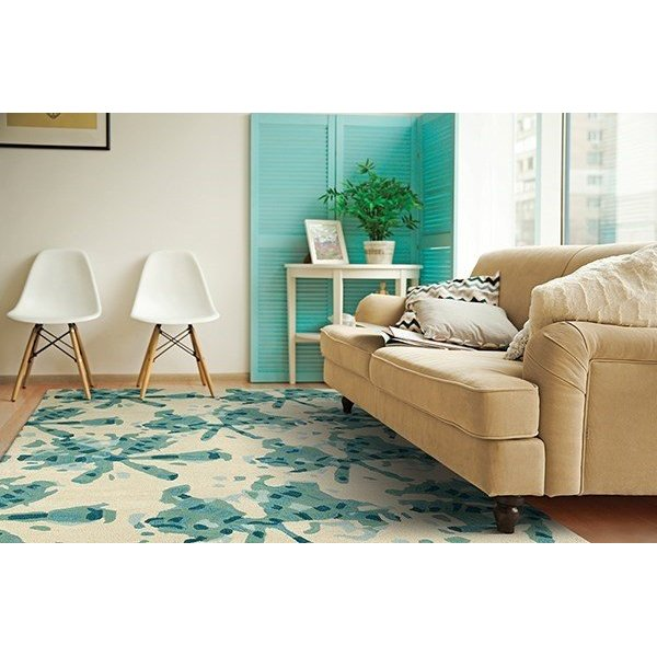 Turquoise (78) Contemporary / Modern Area Rug