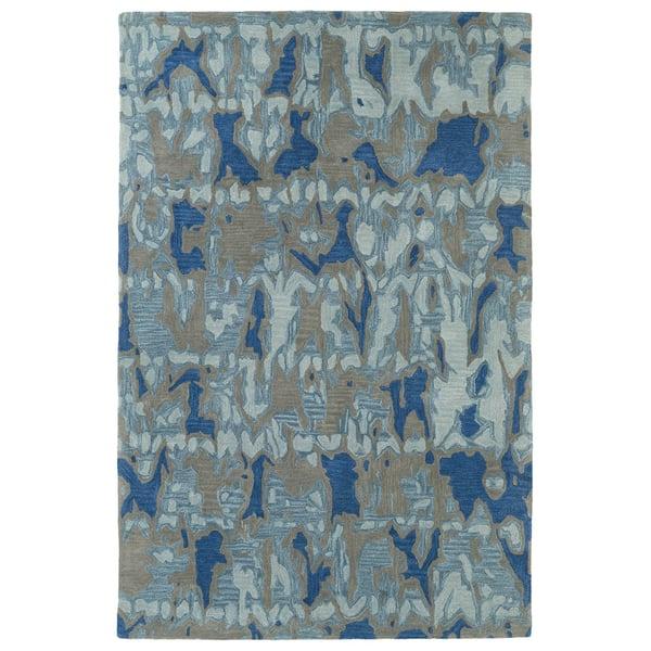 Blue, Light Blue, Grey (17) Contemporary / Modern Area Rug