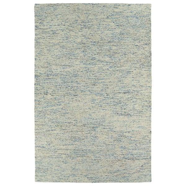 Blue, Linen, Cobalt, Glacier (17) Contemporary / Modern Area Rug