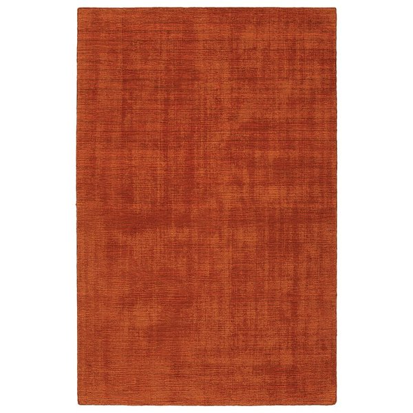Rust, Orange, Paprika, Brick (30) Contemporary / Modern Area Rug