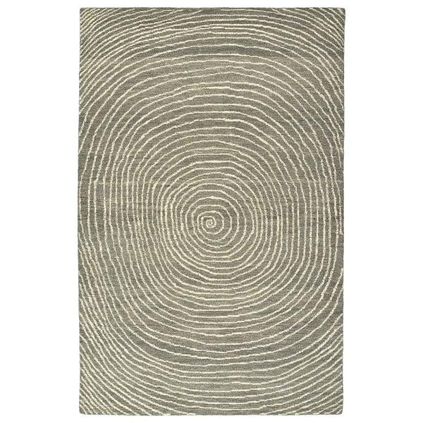 Grey, Charcoal, Graphite, Linen (75) Contemporary / Modern Area Rug