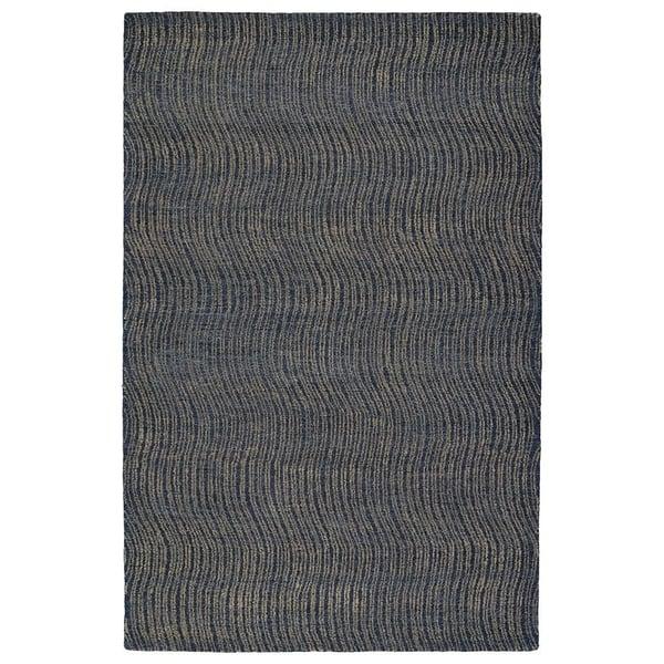 Blue, Denim, Light Brown, Light Blue (17) Contemporary / Modern Area Rug