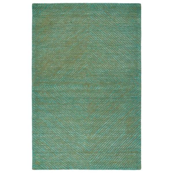 Dark Turquoise, Seaweed, Ivory (78) Contemporary / Modern Area Rug