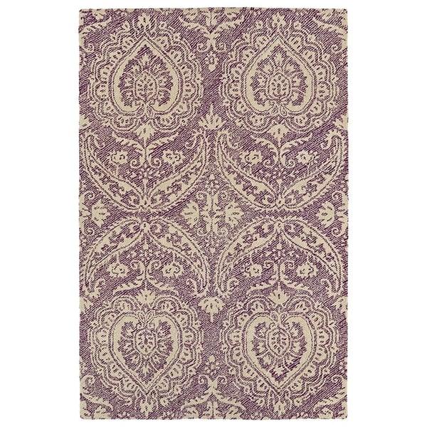 Purple, Linen, Plum (95) Contemporary / Modern Area Rug