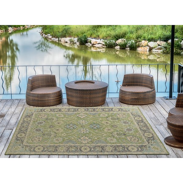 Lime Green, Linen, Green, Turquoise, Khaki (96) Traditional / Oriental Area Rug