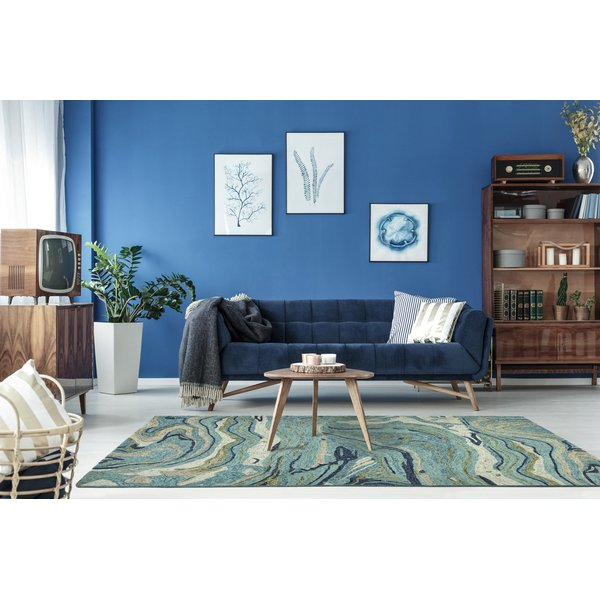 Teal (91) Contemporary / Modern Area-Rugs