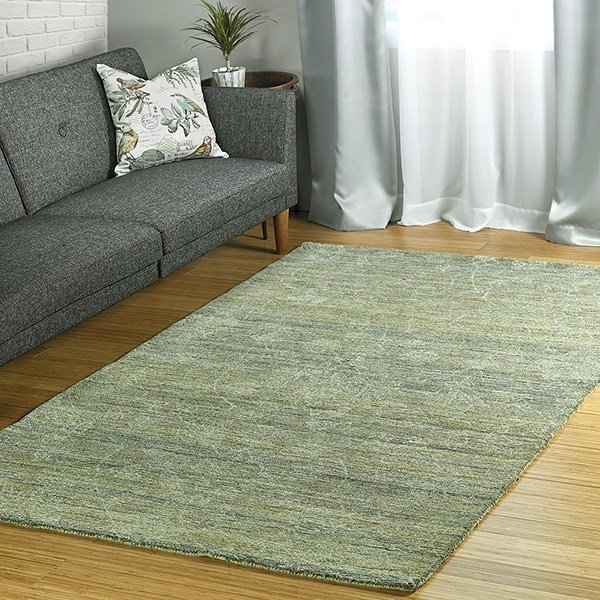Sage, Olive, Denim (59) Traditional / Oriental Area Rug