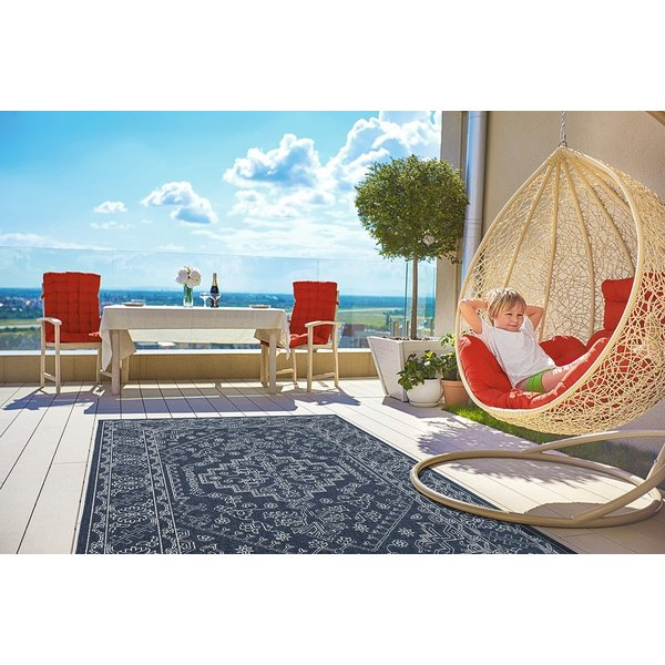 Navy, Ivory (22) Contemporary / Modern Area-Rugs
