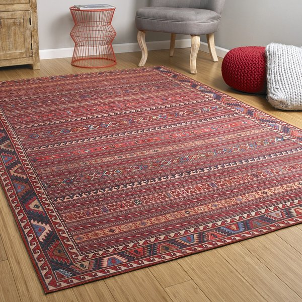 Red (25) Bohemian Area-Rugs
