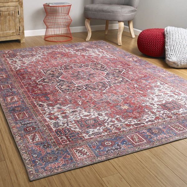 Red (25) Bohemian Area Rug