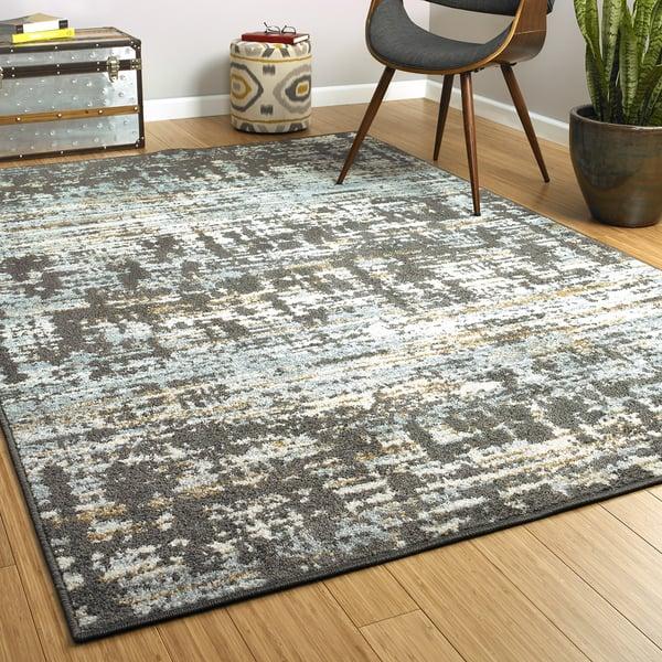 Graphite, Spa (68) Contemporary / Modern Area-Rugs