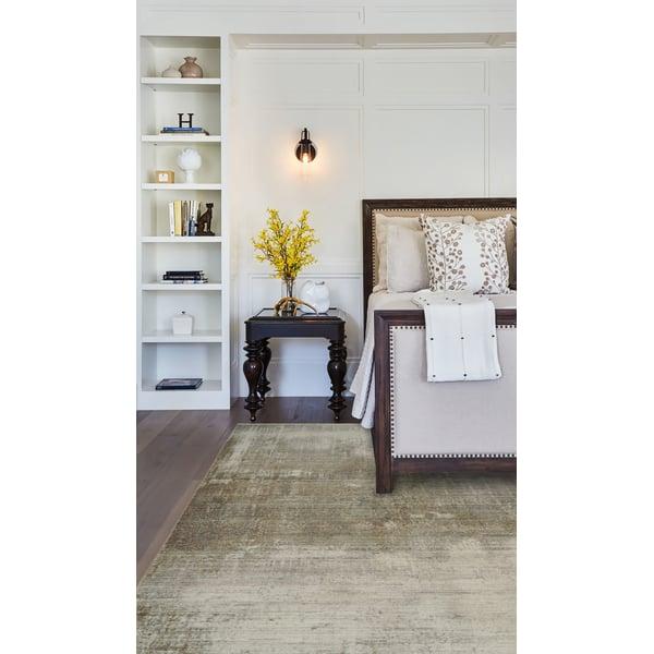 Silver, Brown, Grey (77) Contemporary / Modern Area Rug