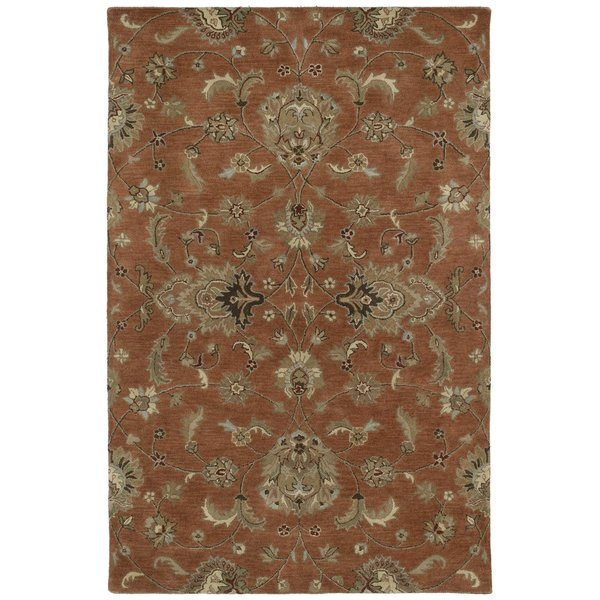 Copper, Taupe, Sage Green (67) Traditional / Oriental Area Rug