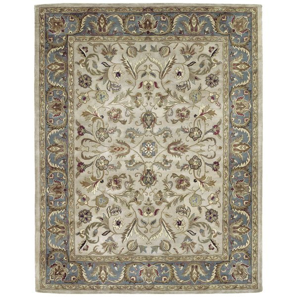 Ivory, Beige, Teal (01) Traditional / Oriental Area Rug
