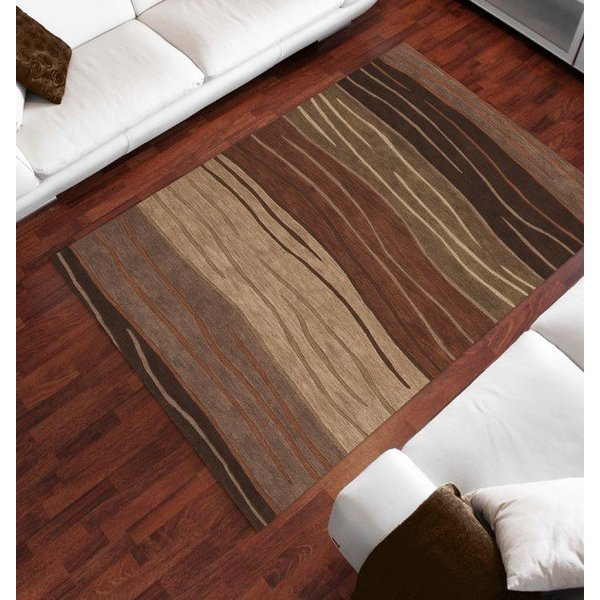 Autumn, Taupe Contemporary / Modern Area Rug