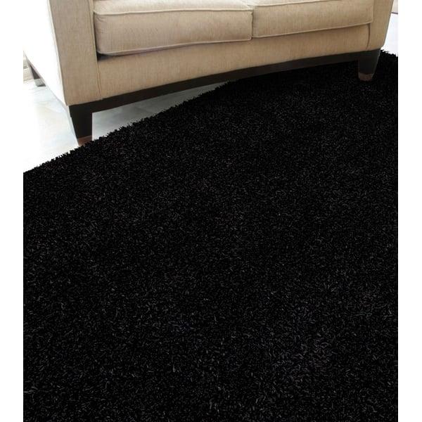 Black Solid Area Rug
