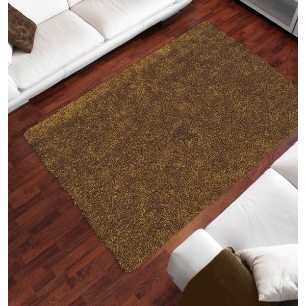 Gold Solid Area Rug
