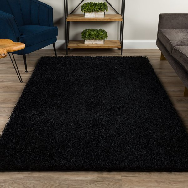 Black Solid Area-Rugs