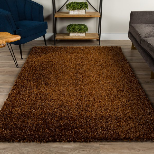 Chocolate Solid Area-Rugs