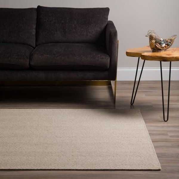 Linen Solid Area Rug
