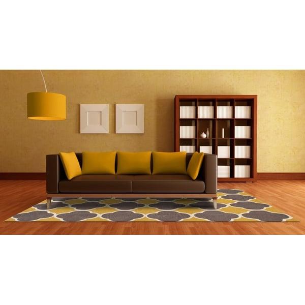 Dandelion, Grey, White Contemporary / Modern Area-Rugs