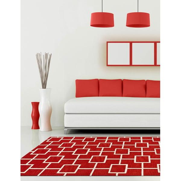 Lava, White Contemporary / Modern Area-Rugs