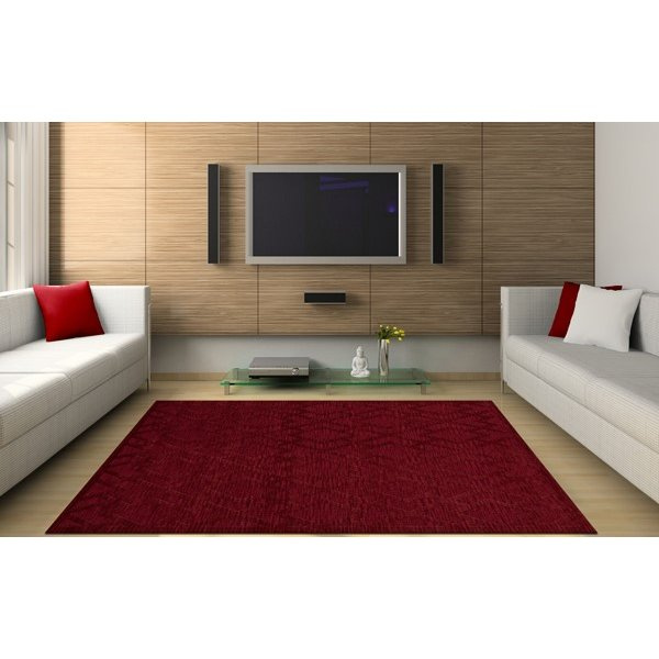 Rich Red (141) Geometric Area Rug