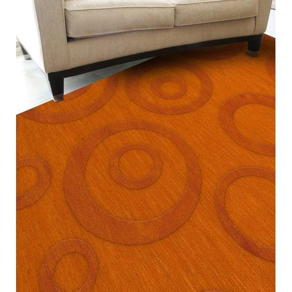 Orange (156) Contemporary / Modern Area Rug
