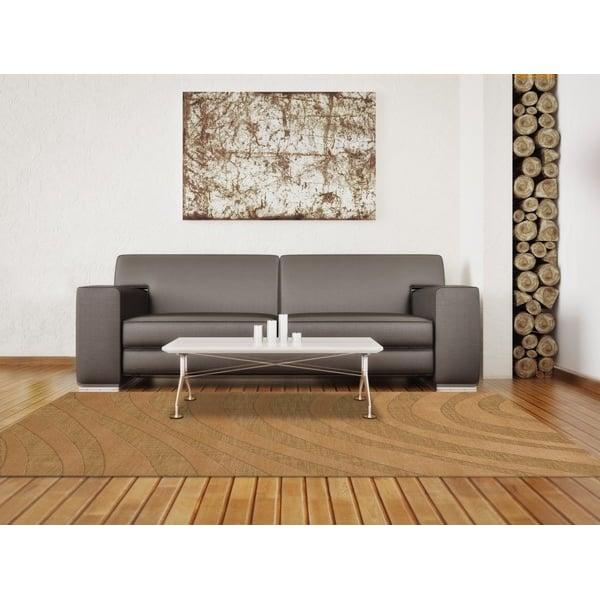 Wheat (107) Contemporary / Modern Area Rug