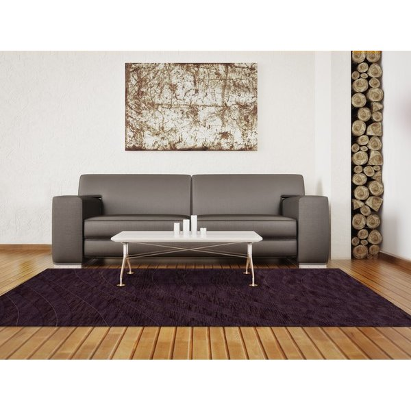 Grape Ice (130) Contemporary / Modern Area Rug