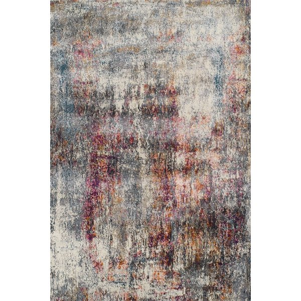 Teal, Orched Tangerine Abstract Area Rug