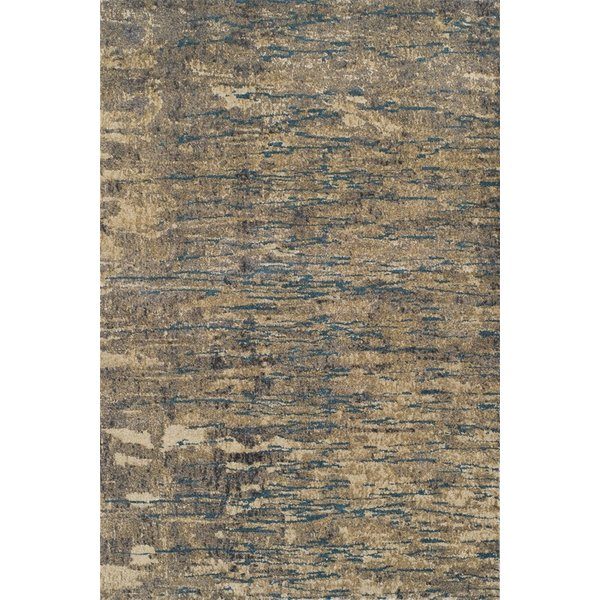 Taupe, Sand, Ivory Contemporary / Modern Area Rug