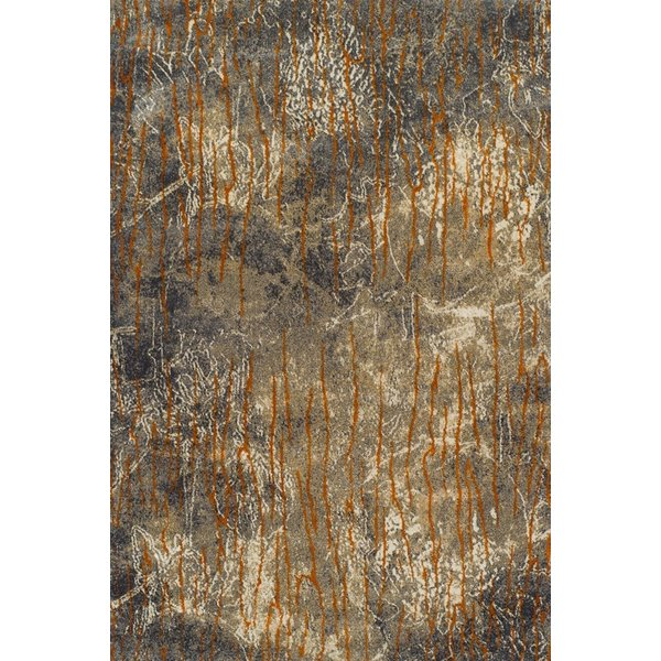 Taupe, Ivory, Sand Contemporary / Modern Area Rug