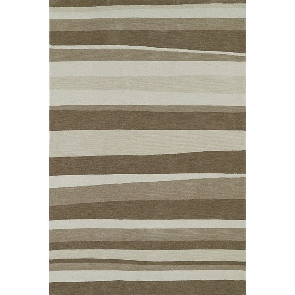 Taupe, Ivory, Putty Striped Area Rug