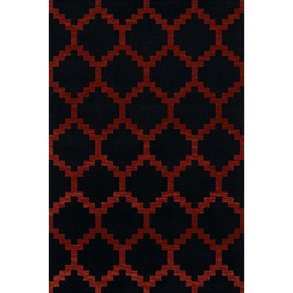 Licorice, Paprika Contemporary / Modern Area Rug