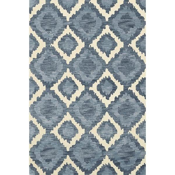 Indigo, Ivory, Blue Bohemian Area-Rugs