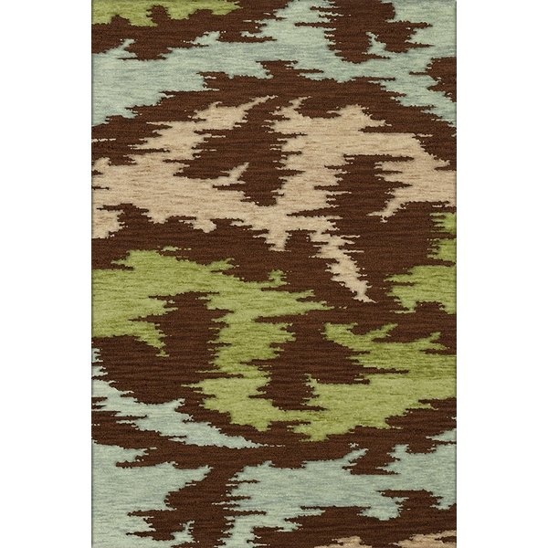 Spa, Brown, Beige, Green Contemporary / Modern Area Rug