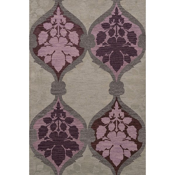 Ash, Grey, Purple, Lavendar Contemporary / Modern Area Rug