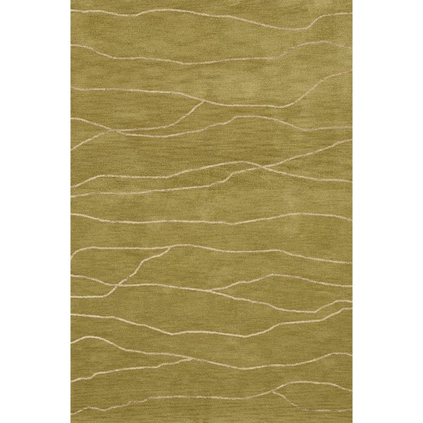 Pear, Ivory Contemporary / Modern Area Rug