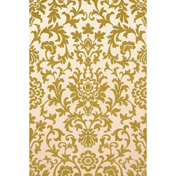 Lime, Ivory Contemporary / Modern Area Rug