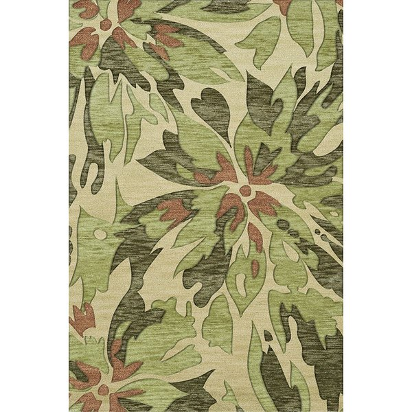 Lima, Green, Brown Floral / Botanical Area Rug