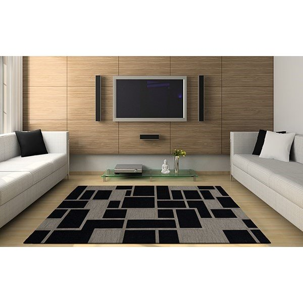 Blackstone, Grey Contemporary / Modern Area Rug